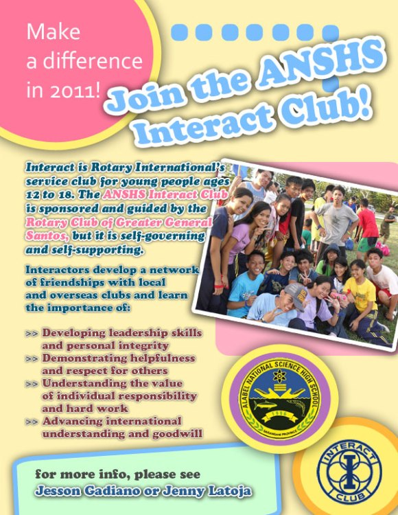 interact club poster