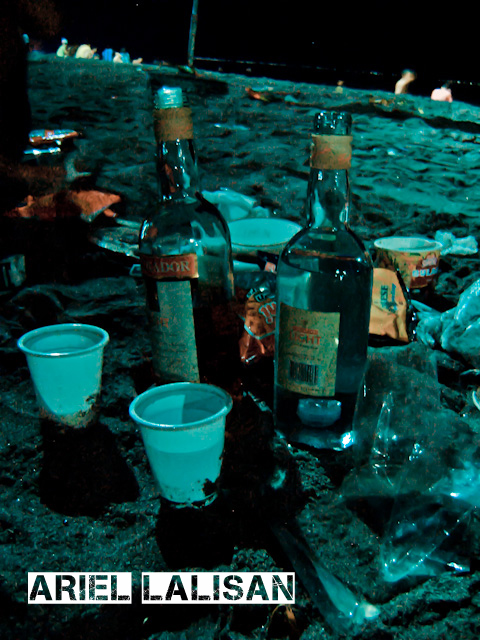 remnants of a drunken night