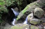 waterfall under a rock