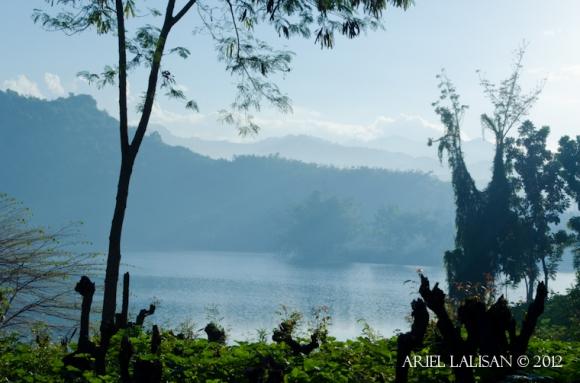 mist over lake beto