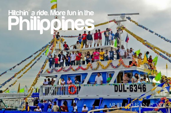 hitching a ride. more fun in the philippines